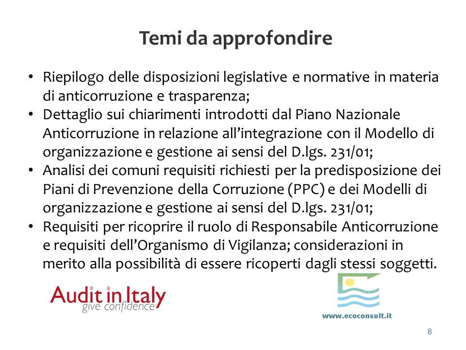 19 Ma cosa dicevano le delibere della Civit (ANAC) e le circolari del Dipartimento della funzione pubblica .