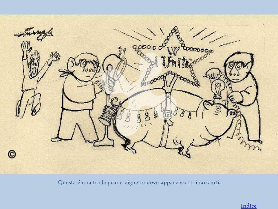 Questa é una tra le prime vignette dove apparvero i trinariciuti. Indice