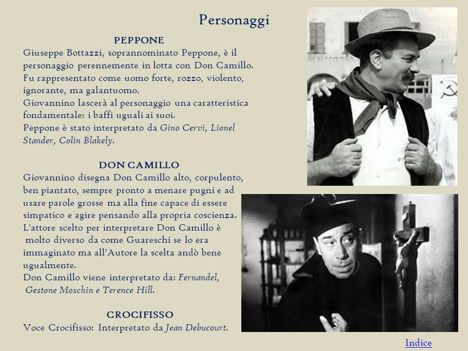 PEPPONE Giuseppe Bottazzi, soprannominato Peppone, è il personaggio perennemente in lotta con Don Camillo.