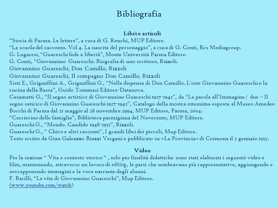 Bibliografia Libri e articoli Storia di Parma.Le lettere , a cura di G.