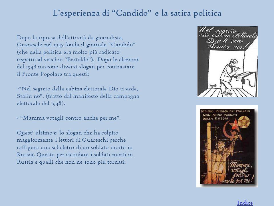 Dopo la ripresa dell'attività da giornalista, Guareschi nel 1945 fonda il giornale Candido (che nella politica era molto più radicato rispetto al vecchio Bertoldo ).