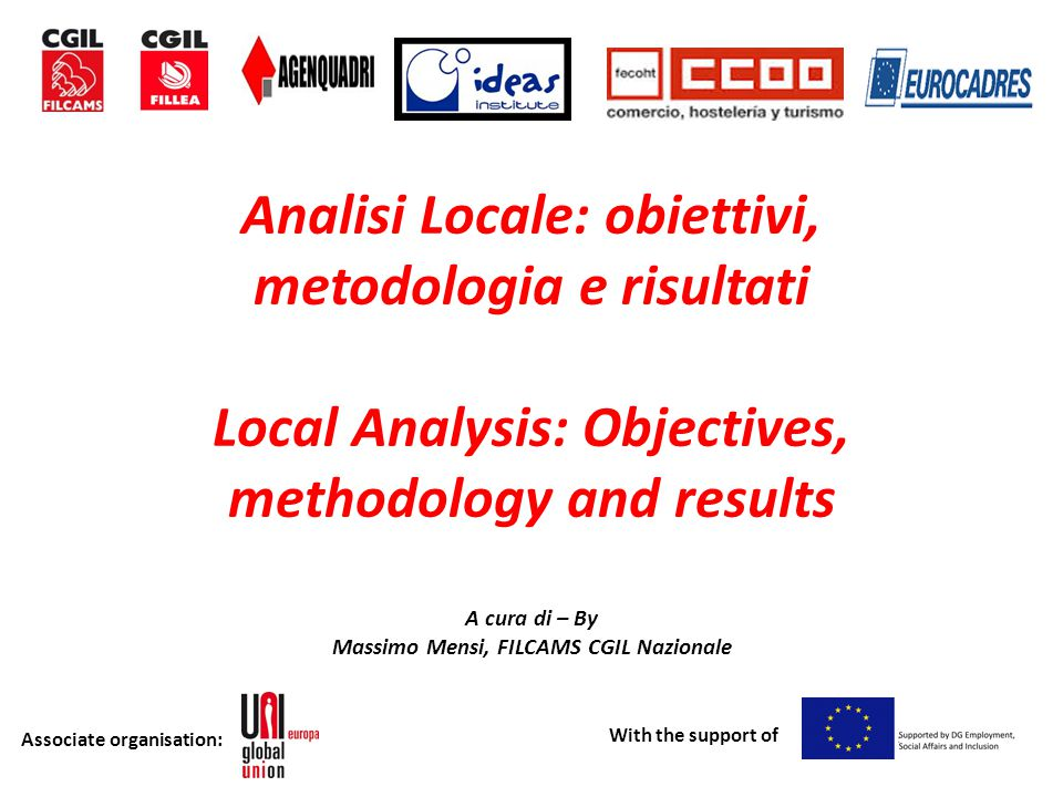 Associate organisation: With the support of 3 contesti differenti