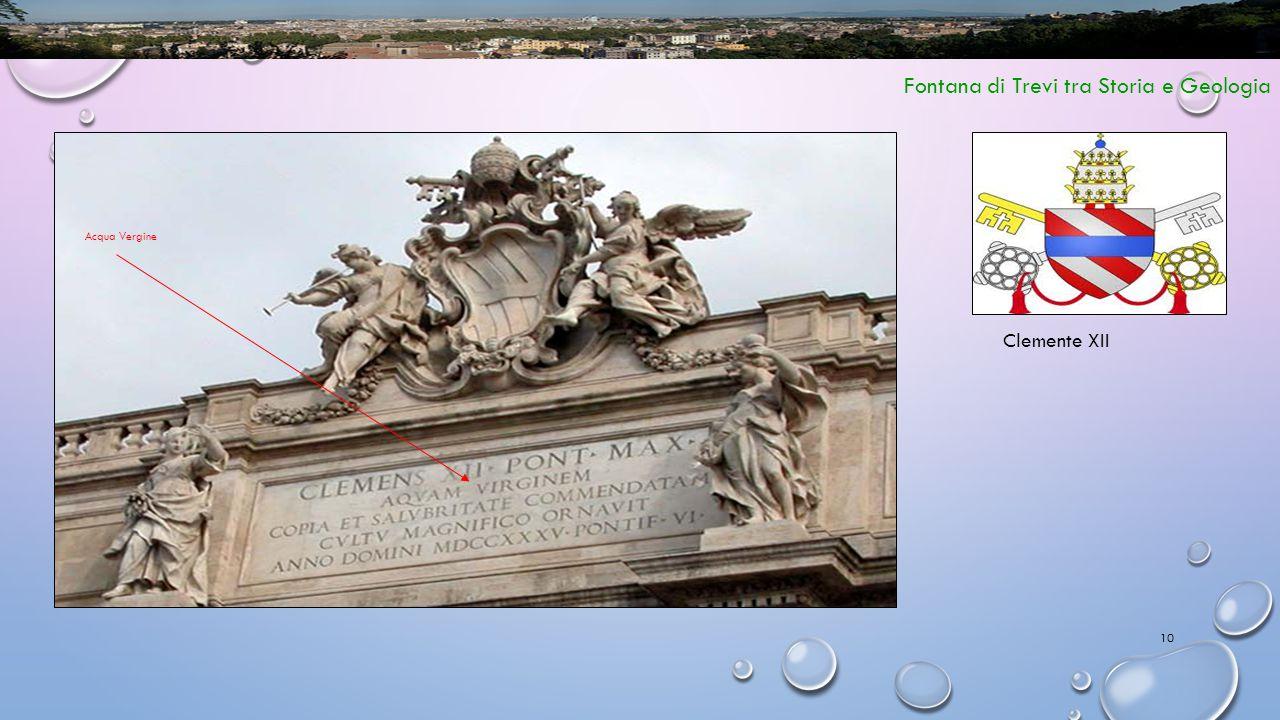 10 Fontana di Trevi tra Storia e Geologia Clemente XII Acqua Vergine