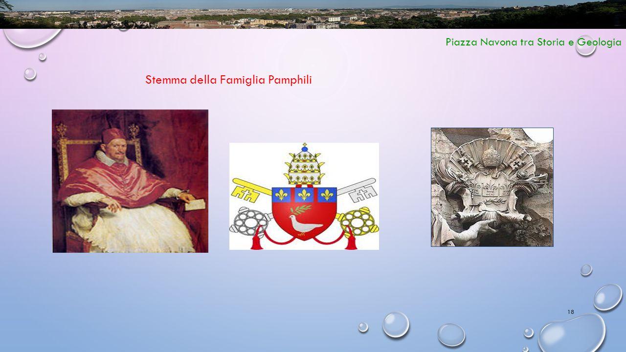 18 Piazza Navona tra Storia e Geologia Stemma della Famiglia Pamphili