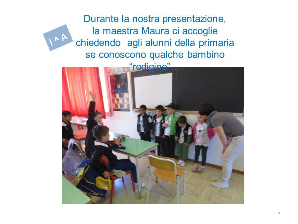 7 Durante la nostra presentazione, la maestra Maura ci accoglie chiedendo agli alunni della primaria se conoscono qualche bambino rodigino …