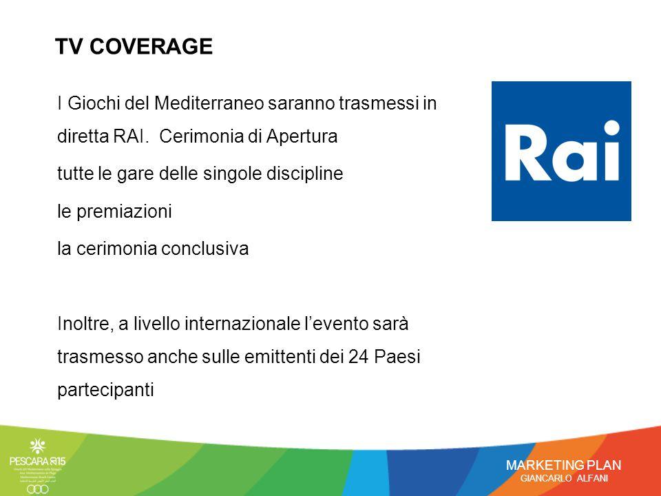 I Giochi del Mediterraneo saranno trasmessi in diretta RAI.