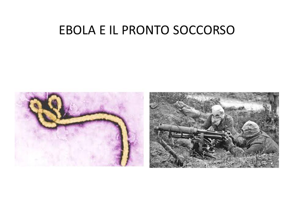 EBOLA E IL PRONTO SOCCORSO