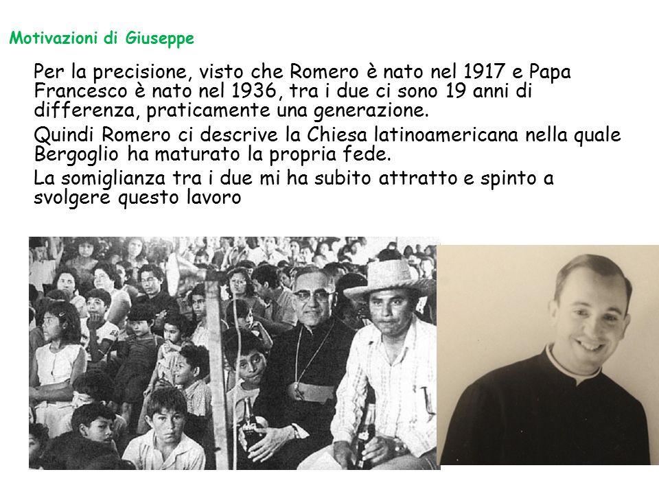 Per la precisione, visto che Romero è nato nel 1917 e Papa Francesco è nato nel 1936, tra i due ci sono 19 anni di differenza, praticamente una genera