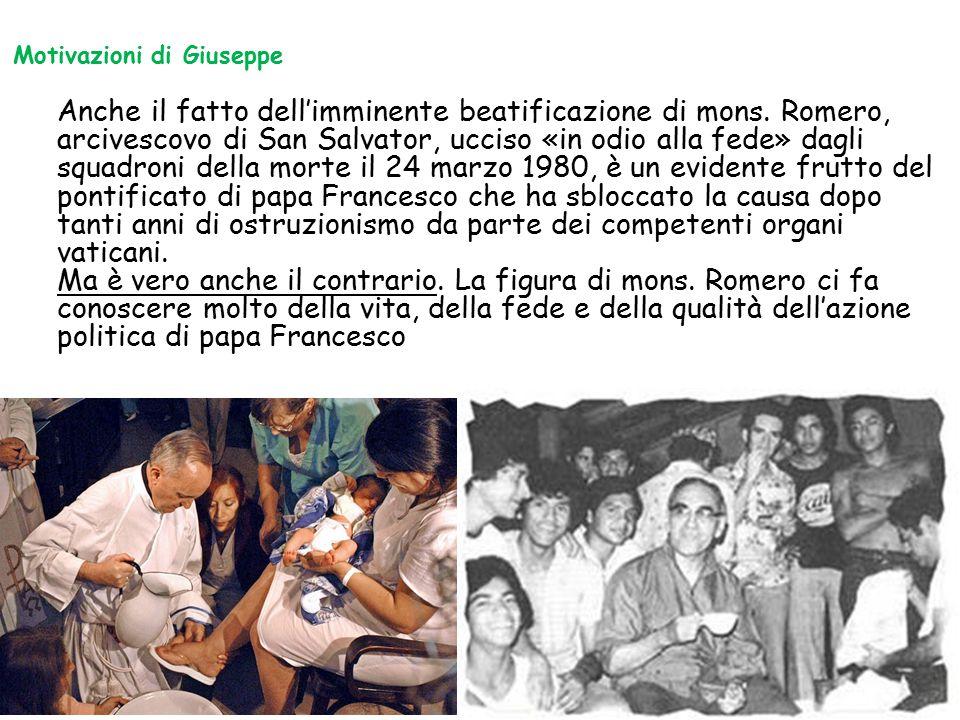 Anche il fatto dell'imminente beatificazione di mons. Romero, arcivescovo di San Salvator, ucciso «in odio alla fede» dagli squadroni della morte il 2