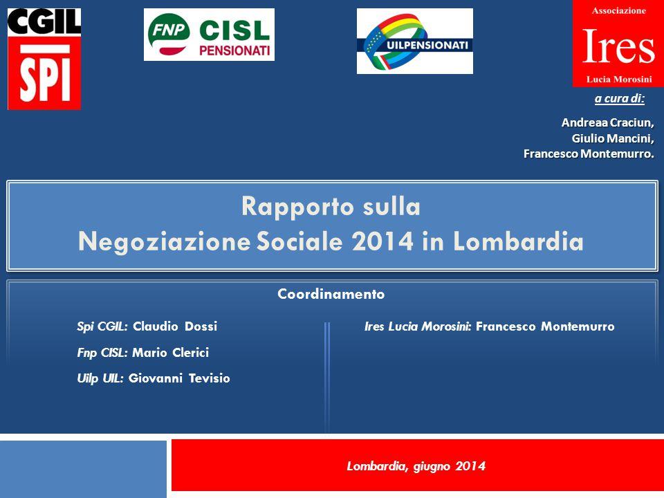 Aree tematiche affrontate negli accordi di negoziazione in Lombardia.