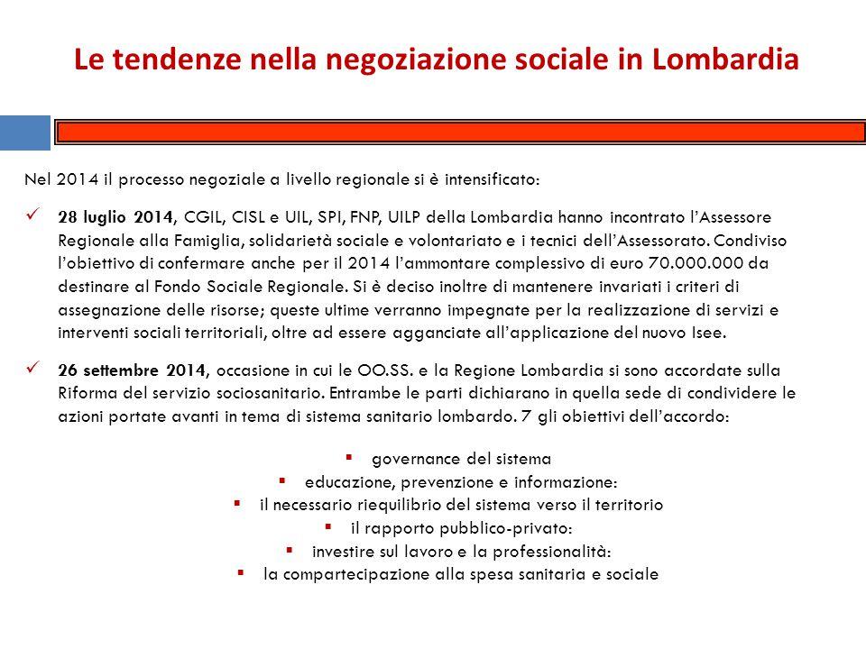 La negoziazione sociale in Lombardia nel 2014: l'addizionale Irpef e la progressività fiscale Lombardia.