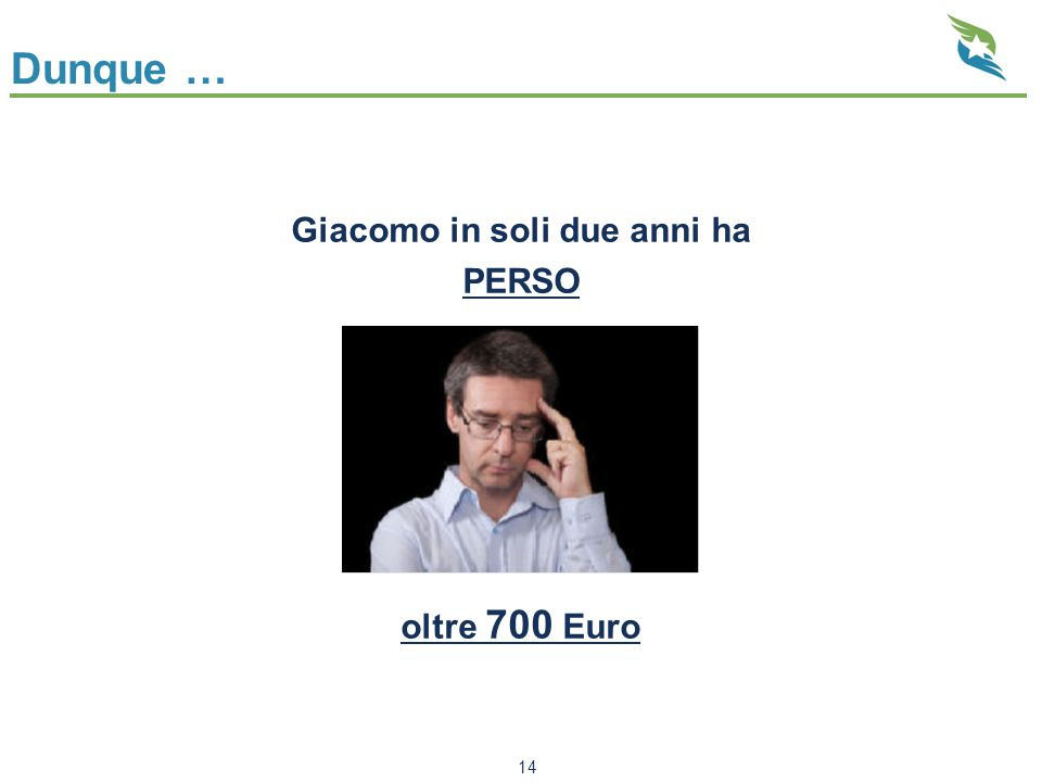 Dunque … Giacomo in soli due anni ha PERSO oltre 700 Euro 14