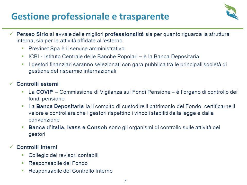 Gestione professionale e trasparente Perseo Sirio si avvale delle migliori professionalità sia per quanto riguarda la struttura interna, sia per le at