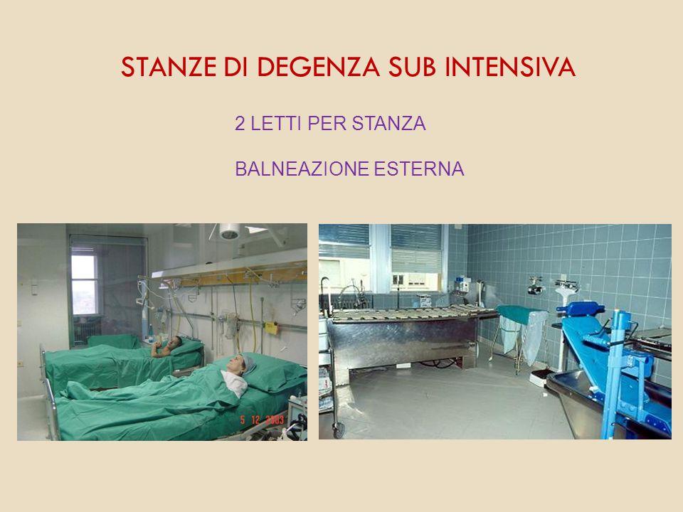 STANZE DI DEGENZA SUB INTENSIVA 2 LETTI PER STANZA BALNEAZIONE ESTERNA