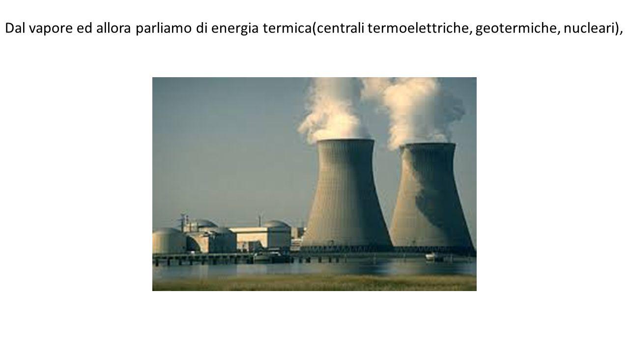 Dal vento ed allora parliamo di energia eolica (centrali eoliche).