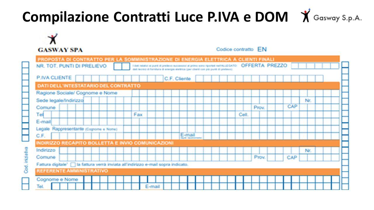 Compilazione Contratti Luce P.IVA e DOM