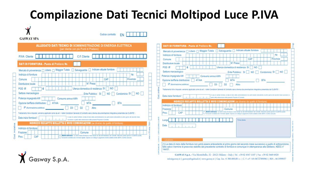 Compilazione Dati Tecnici Moltipod Luce P.IVA
