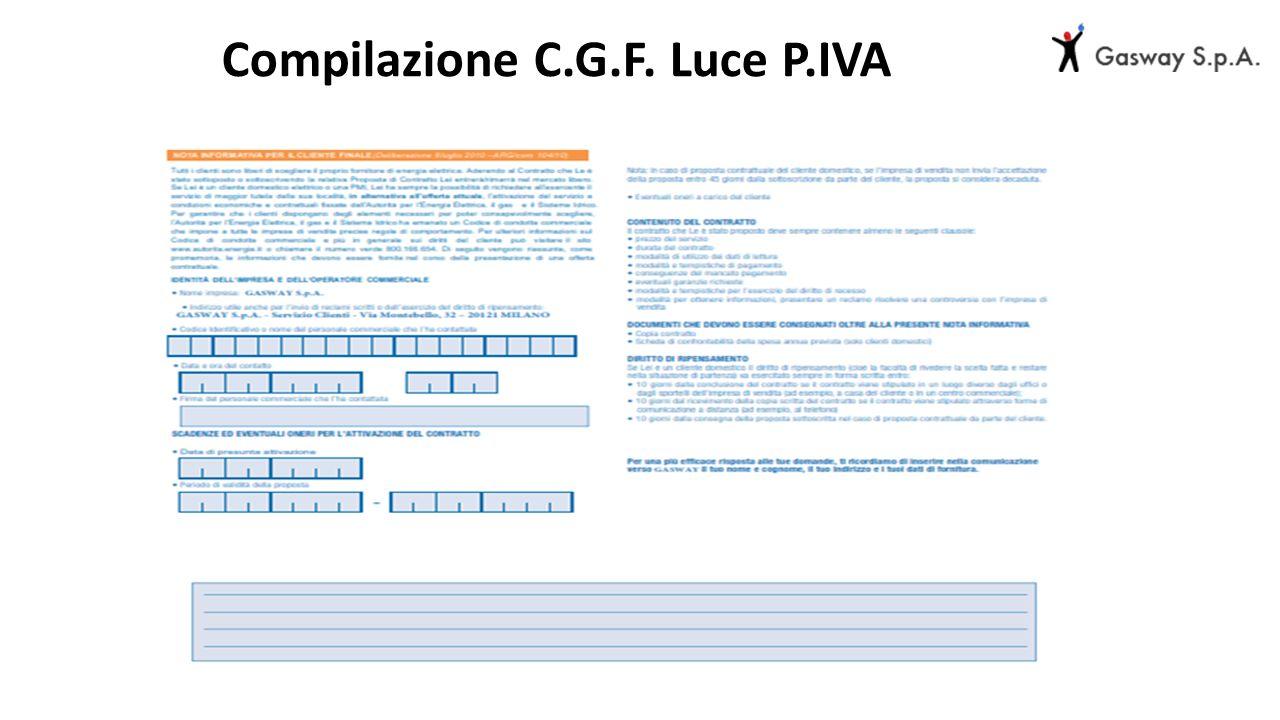 Compilazione C.G.F. Luce P.IVA