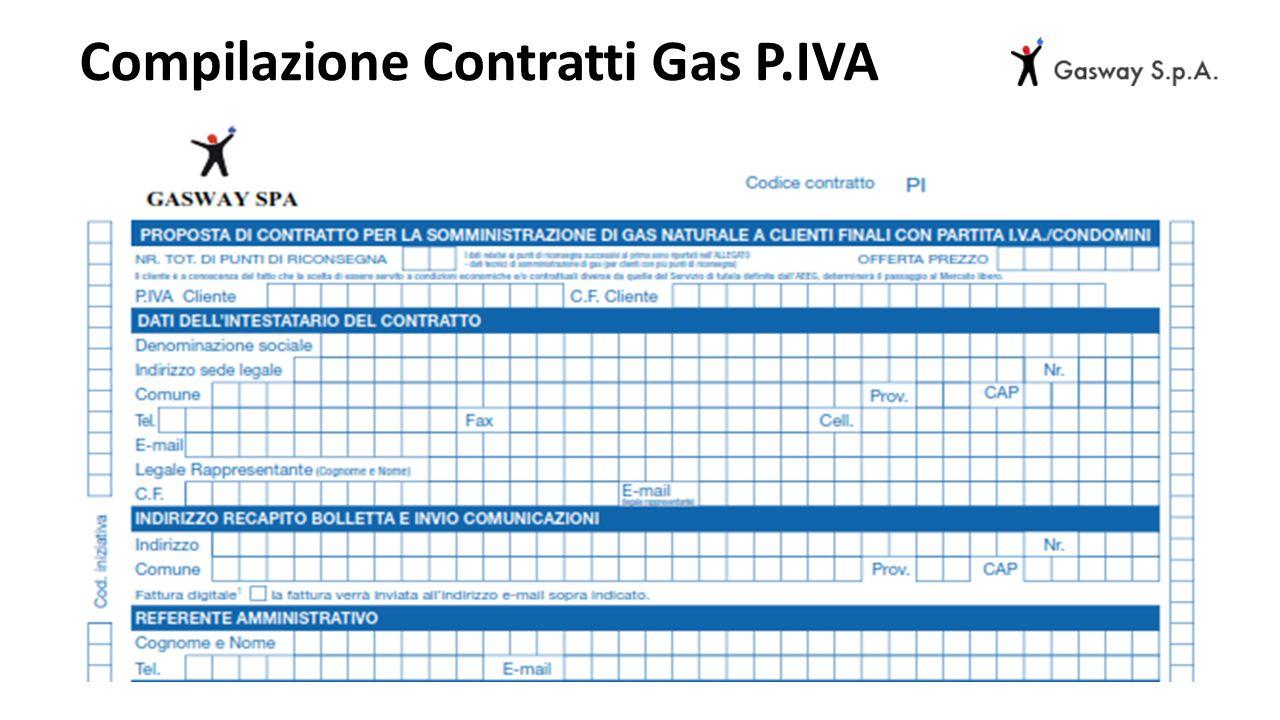 Compilazione Contratti Gas P.IVA