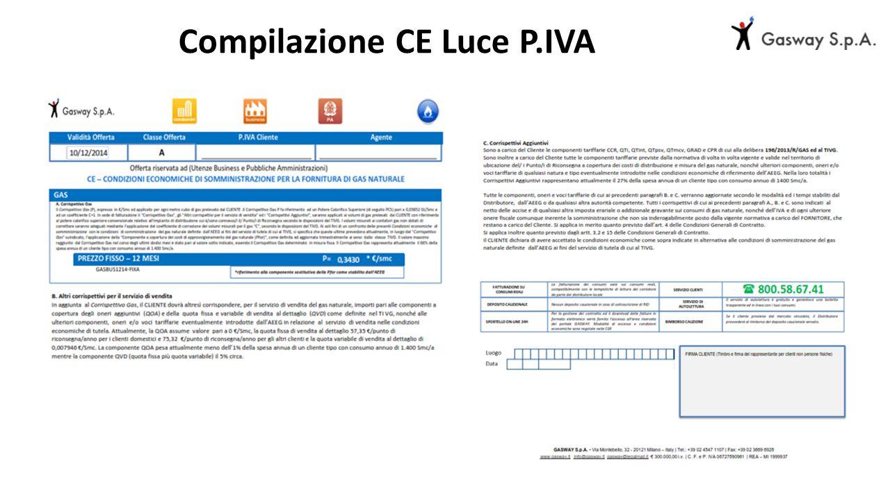 Compilazione CE Luce P.IVA