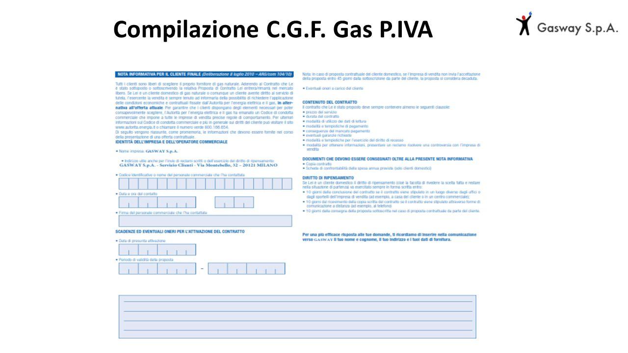 Compilazione C.G.F. Gas P.IVA
