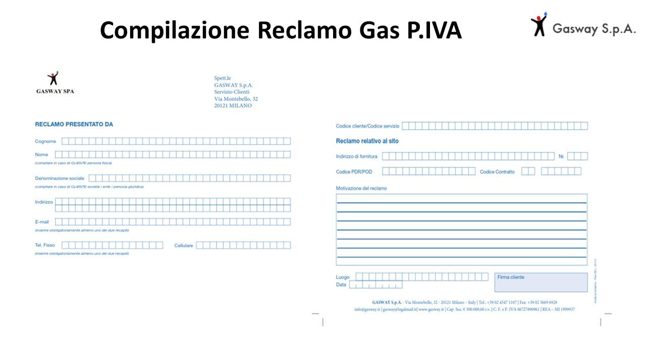 Compilazione Reclamo Gas P.IVA