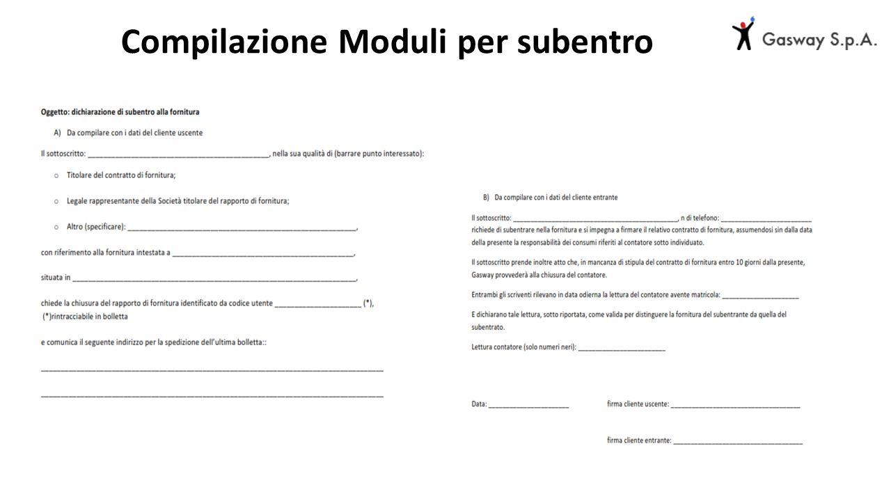 Compilazione Moduli per subentro