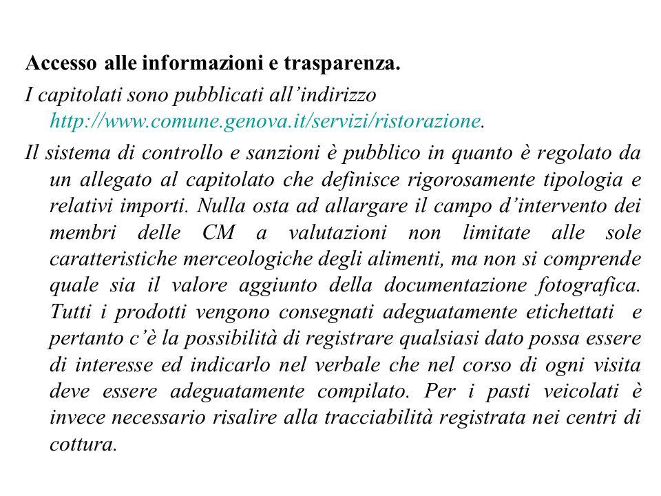 Accesso alle informazioni e trasparenza.
