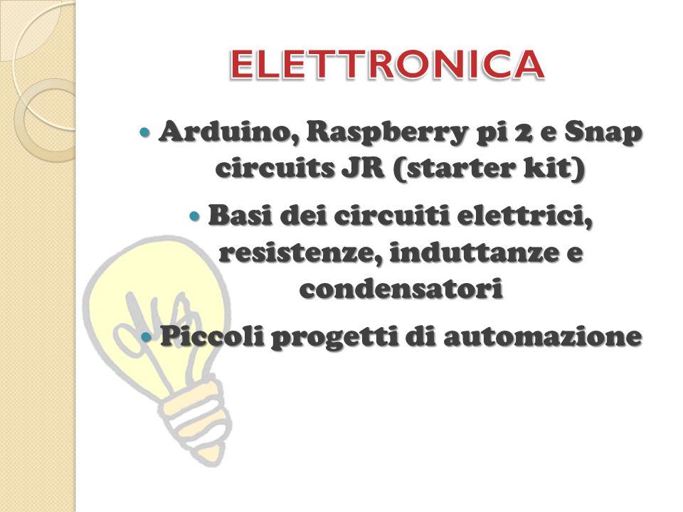 Arduino, Raspberry pi 2 e Snap circuits JR (starter kit) Arduino, Raspberry pi 2 e Snap circuits JR (starter kit) Basi dei circuiti elettrici, resiste