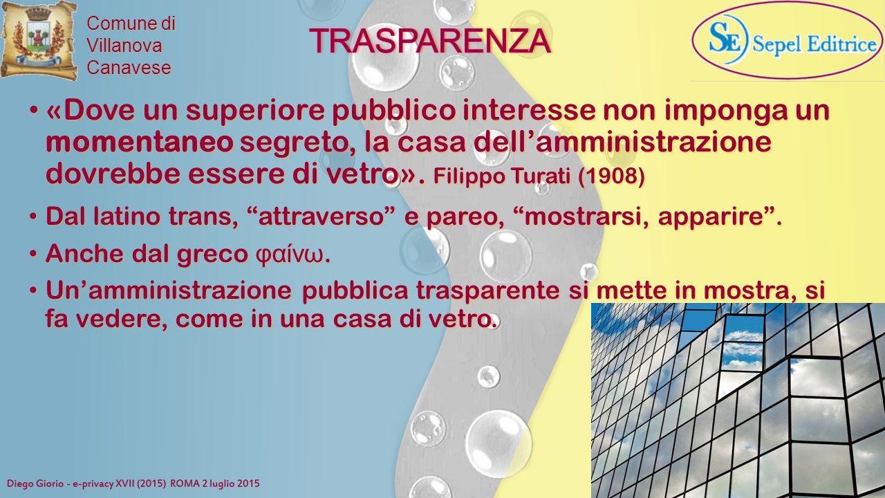 """Comune di VillanovaCanavese Dal latino trans, """"attraverso"""" e pareo, """"mostrarsi, apparire"""". Dal latino trans, """"attraverso"""" e pareo, """"mostrarsi, apparir"""