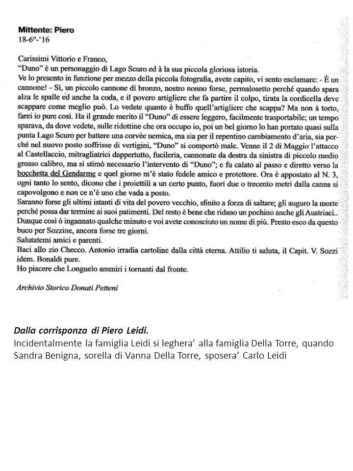 Dalla corrisponza di Piero Leidi.