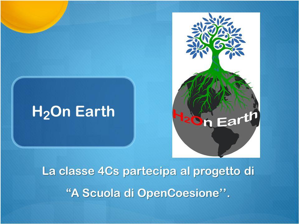 """H 2 On Earth La classe 4Cs partecipa al progetto di """"A Scuola di OpenCoesione''."""