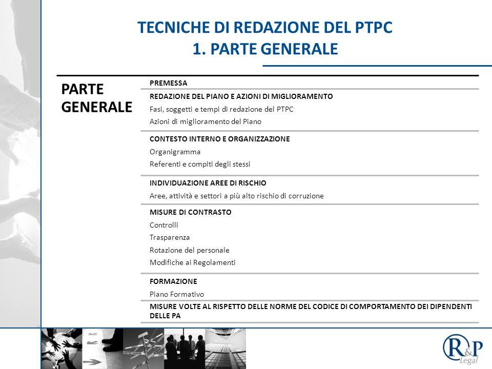 TECNICHE DI REDAZIONE DEL PTPC 1.