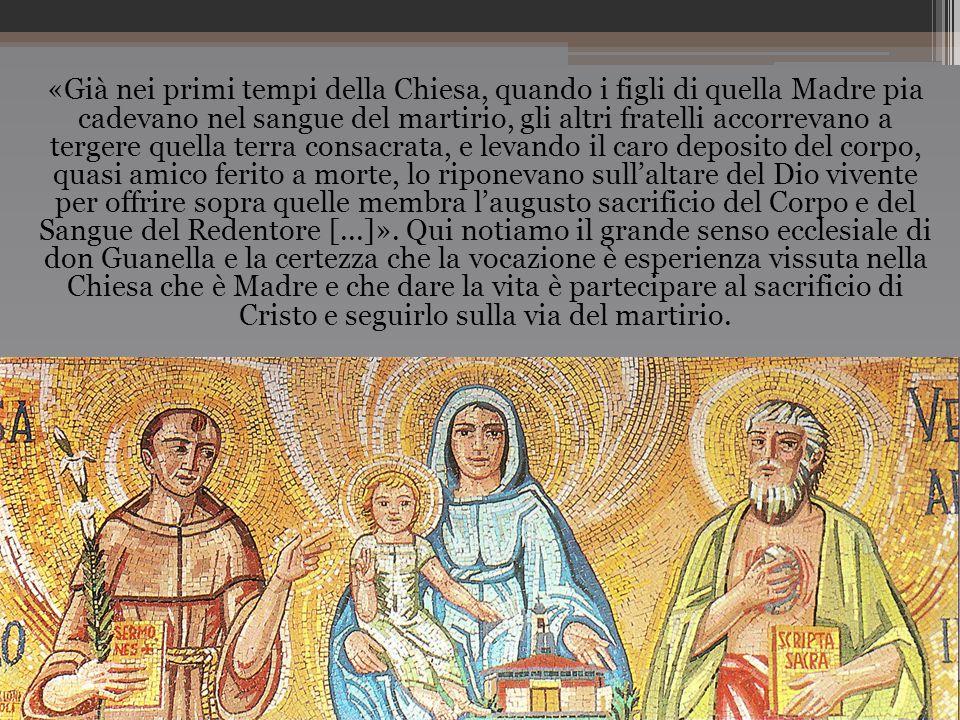 «Già nei primi tempi della Chiesa, quando i figli di quella Madre pia cadevano nel sangue del martirio, gli altri fratelli accorrevano a tergere quell