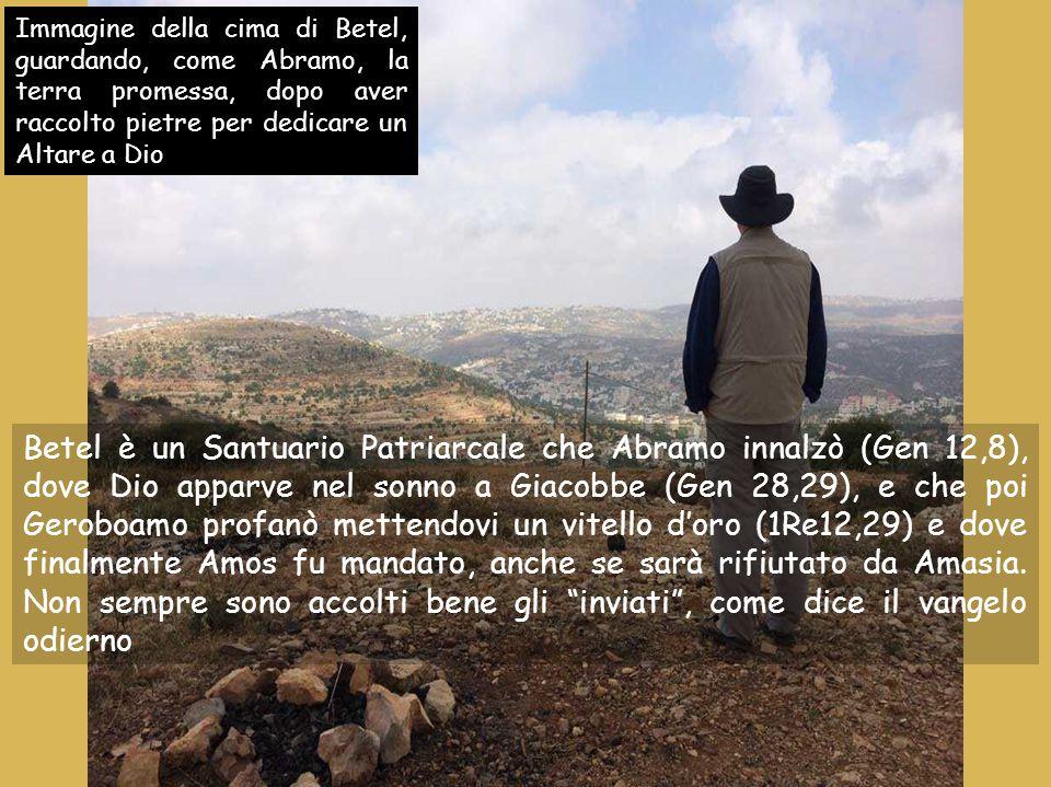 Anno B 12 luglio 2015 Domenica XV tempo ordinario Domenica XV tempo ordinario Musica: Canto dei pellegrini Reperti del Santuario di Betel (Samaria)