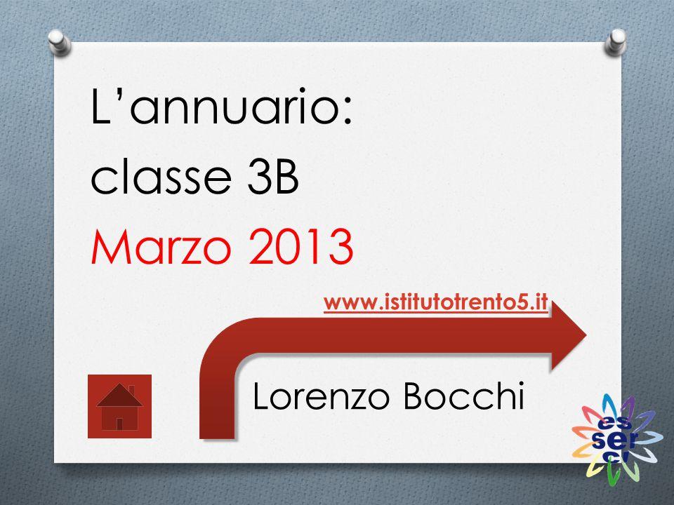 L'annuario: classe 3B Marzo 2013 Lorenzo Bocchi www.istitutotrento5.it