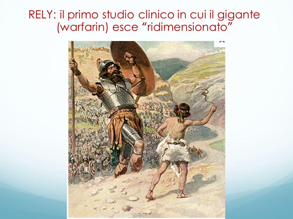 """RELY: il primo studio clinico in cui il gigante (warfarin) esce """"ridimensionato"""""""