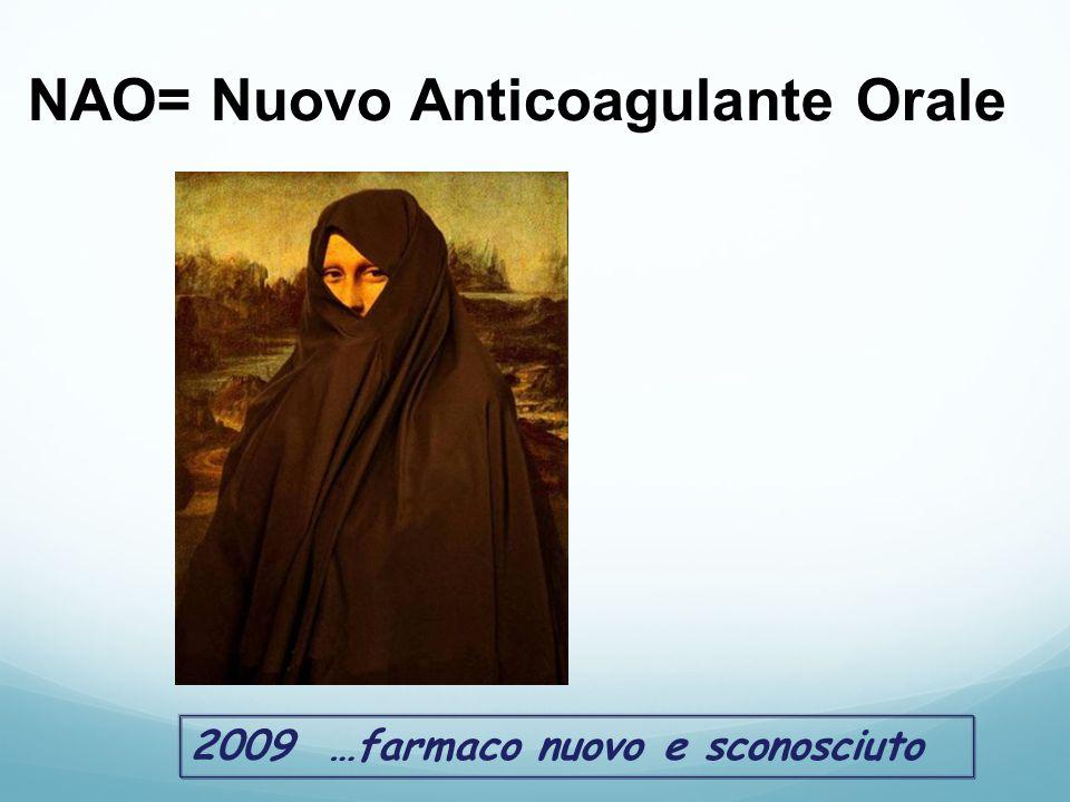 2009 …farmaco nuovo e sconosciuto NAO= Nuovo Anticoagulante Orale