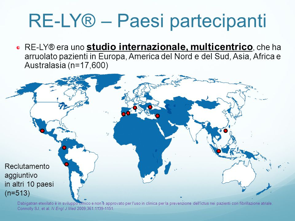 RE-LY® Criteri di inclusione 1.FA non valvolare documentata e 2.