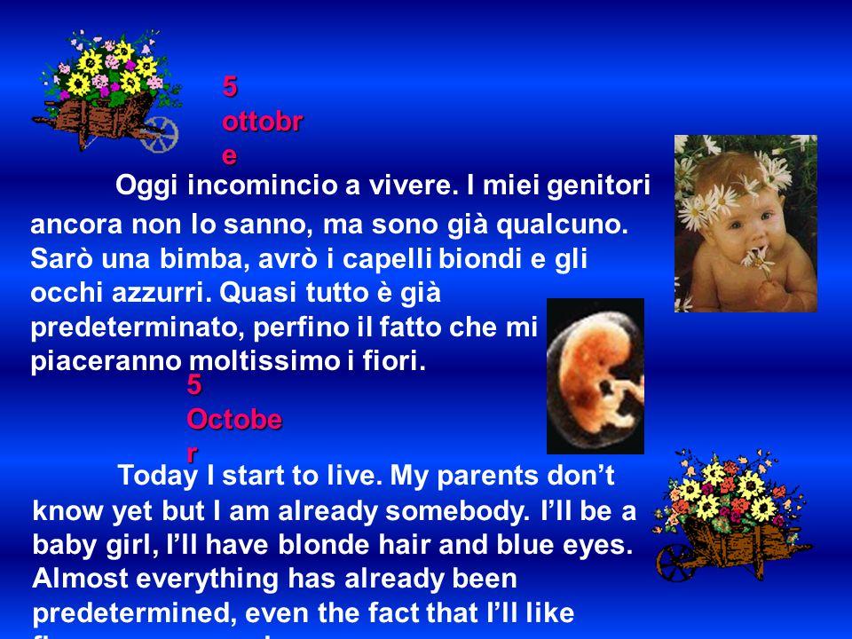 19 ottobre Taluni affermano che non sono ancora una persona, che esiste solo la mamma.