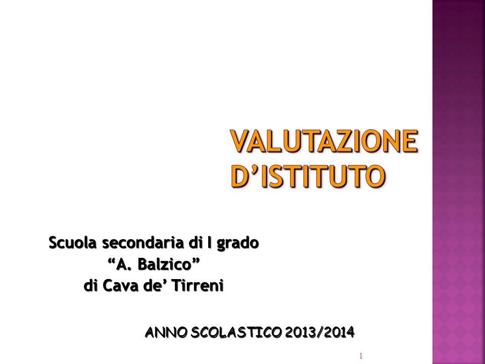 1 Scuola secondaria di I grado A. Balzico di Cava de' Tirreni ANNO SCOLASTICO 2013/2014