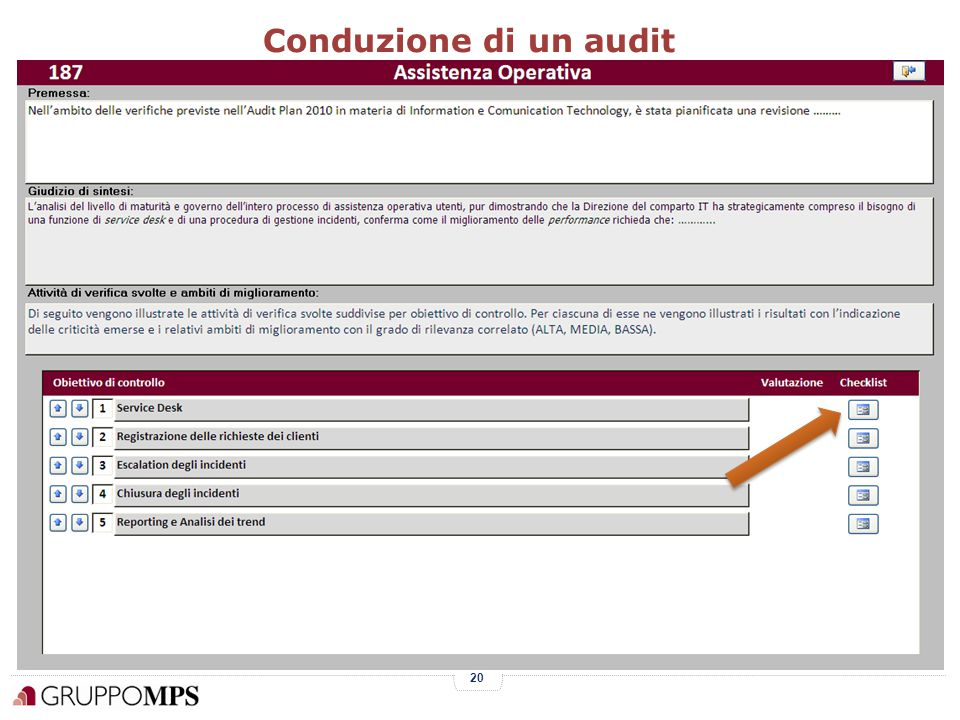 20 Conduzione di un audit