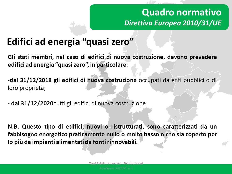 """Quadro normativo Direttiva Europea 2010/31/UE Edifici ad energia """"quasi zero"""" Gli stati membri, nel caso di edifici di nuova costruzione, devono preve"""