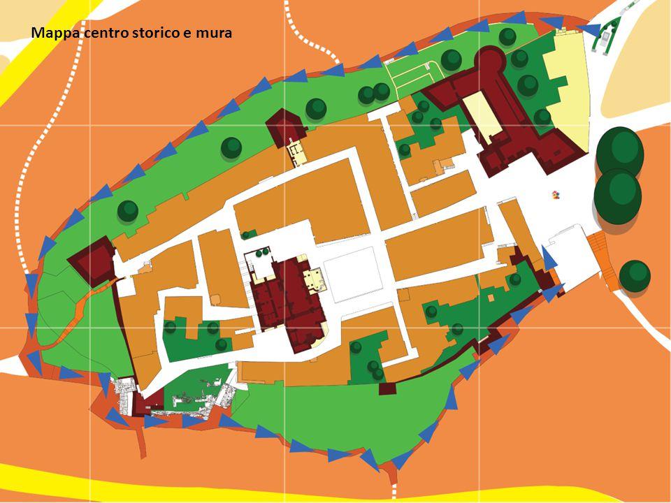 Mappa centro storico e mura