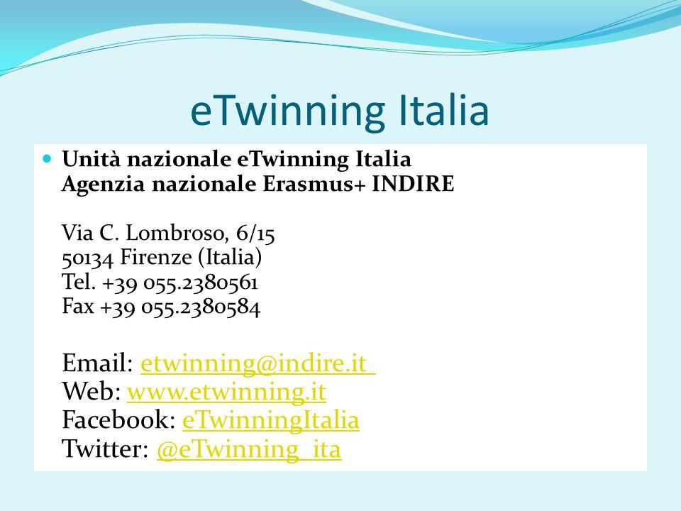 eTwinning Italia Unità nazionale eTwinning Italia Agenzia nazionale Erasmus+ INDIRE Via C.