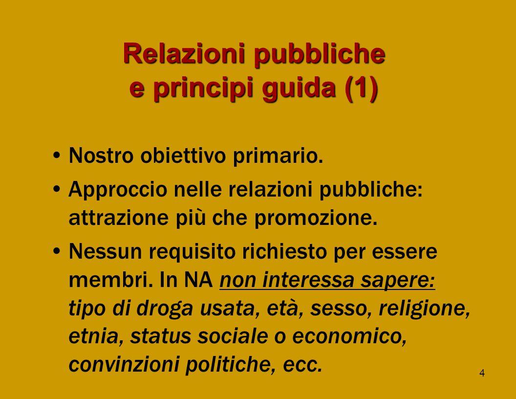 4 Relazioni pubbliche e principi guida (1) Nostro obiettivo primario.