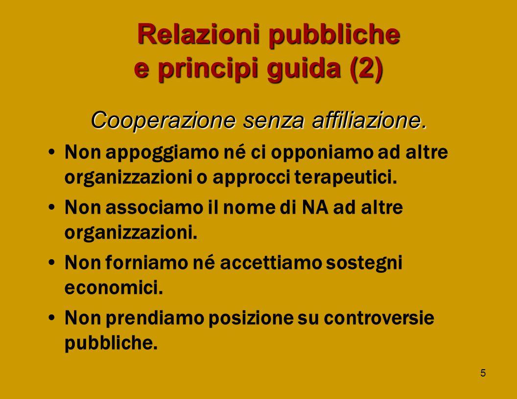 5 Relazioni pubbliche e principi guida (2) Cooperazione senza affiliazione.