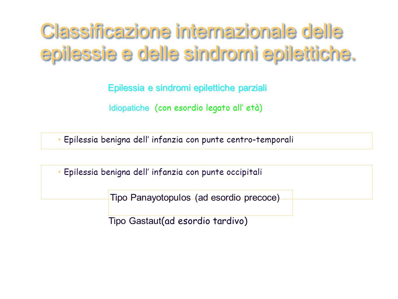 Classificazione internazionale delle epilessie e delle sindromi epilettiche.
