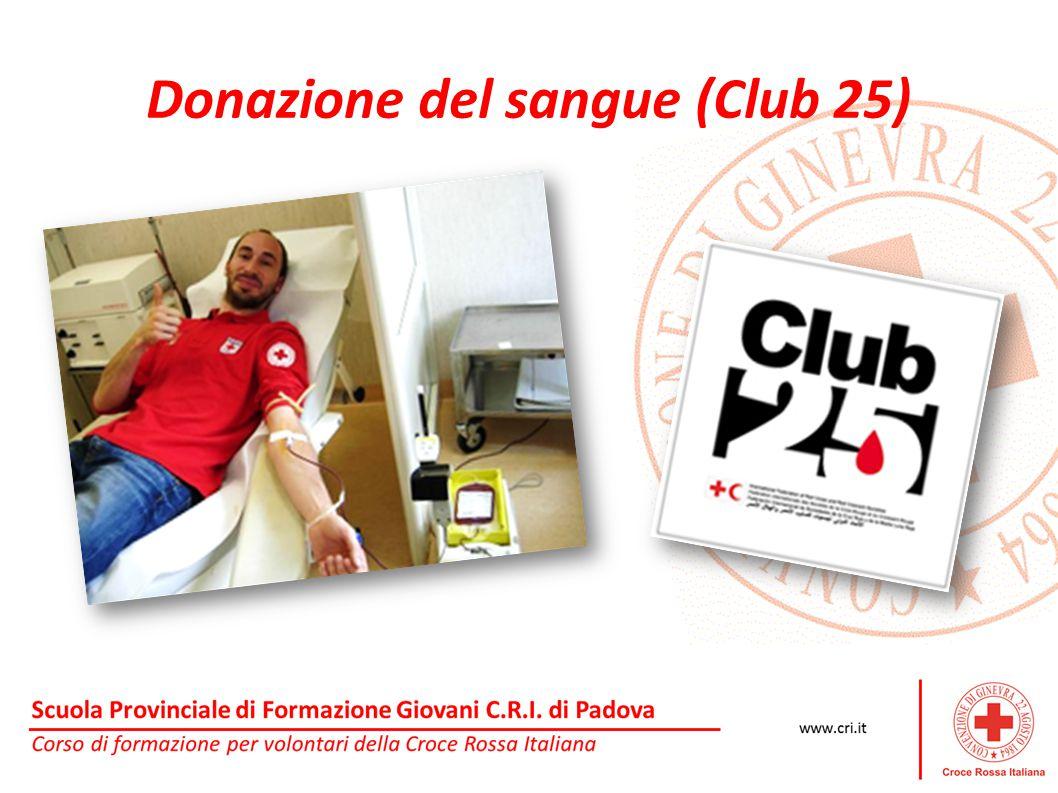 Donazione del sangue (Club 25)