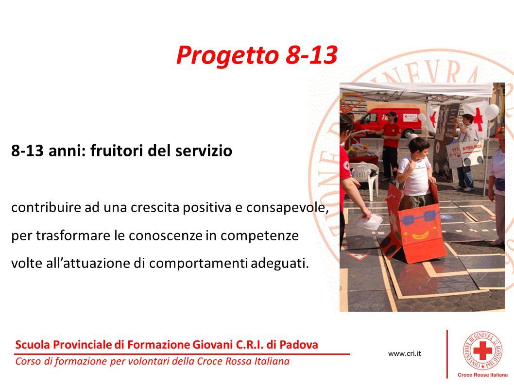 Progetto 8-13 8-13 anni: fruitori del servizio contribuire ad una crescita positiva e consapevole, per trasformare le conoscenze in competenze volte a